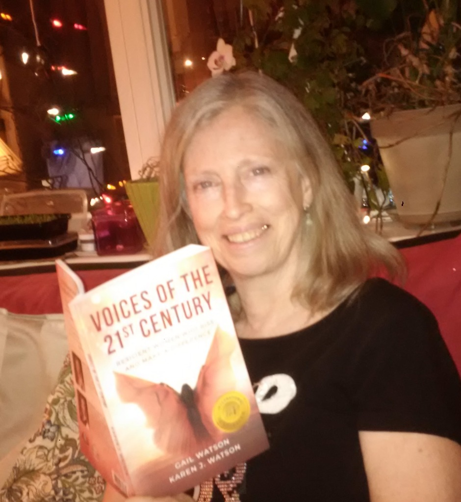 """author Karen J. Watson reading her heart story """"The Answer is To Be!"""" in the print anthology Voices of the 21st Century: Resilient Women Who Rise and Make a Difference"""